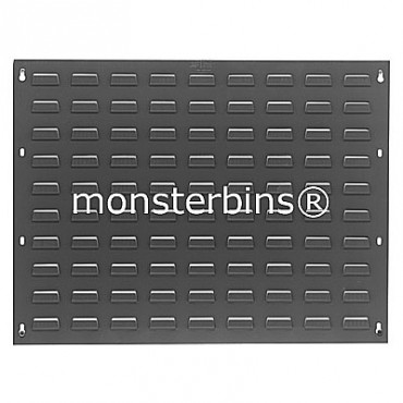 Louvered Panel 27x21 Gray