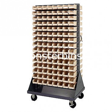 Mobile Double Sided Rack Unit with 240 QUS220 Bins