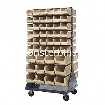 Mobile Double Sided Rack Unit with 72 QUS230, 24 QUS240 Bins