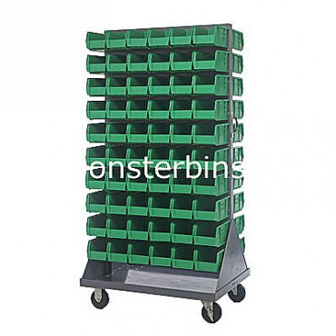 Mobile Double Sided Rack Unit with 120 QUS230 Bins