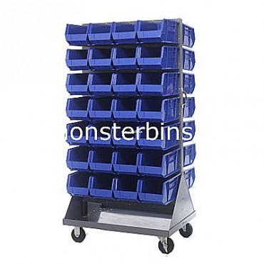 Mobile Double Sided Rack Unit with 56 QUS240 Bins