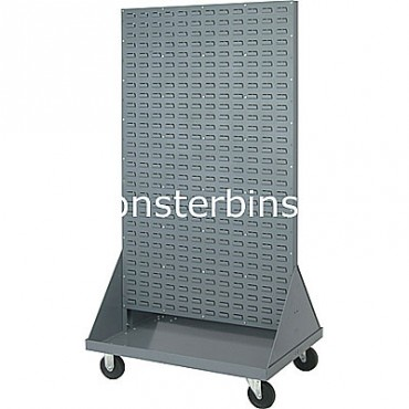 Double Sided Louvered Panel Mobile Cart 36x66