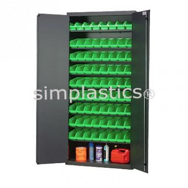 """Beige 36"""" Cabinet with 36 Shelf Bins - 12""""x8""""x4"""""""