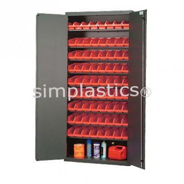 """Beige 36"""" Cabinet with 45 Shelf Bins - 12""""x7""""x4"""""""