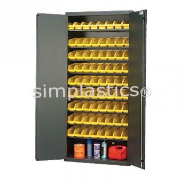"""Beige 36"""" Cabinet with 72 Shelf Bins - 12""""x4""""x4"""""""