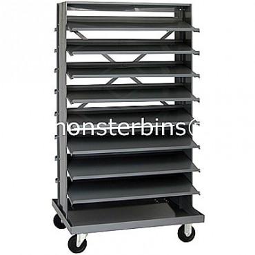 Double Sided Sloped Pick Rack - 16 Shelves - No Bins