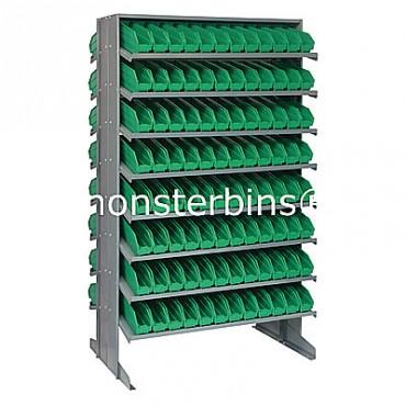 Double Sided Sloped Pick Rack - 16 Shelves - 192 Shelf Bins (12x3x4)
