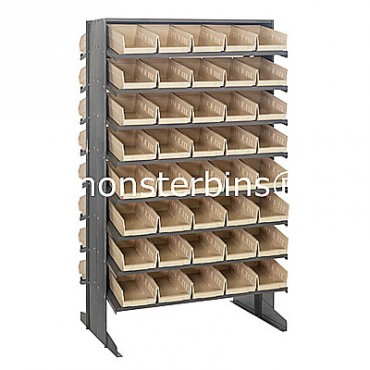 Double Sided Sloped Pick Rack - 16 Shelves - 80 Shelf Bins (12x6x4)