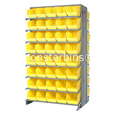 Double Sided Sloped Pick Rack - 16 Shelves - 80 Shelf Bins (12x6x6)