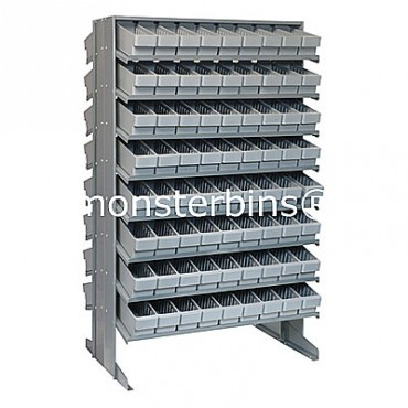 Double Sided Sloped Pick Rack - 16 Shelves - 144 MED501
