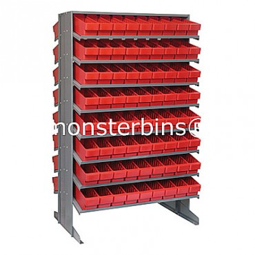 Double Sided Sloped Pick Rack - 16 Shelves - 144 QED501