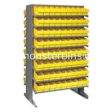 Double Sided Sloped Pick Rack - 16 Shelves - 144 MED501