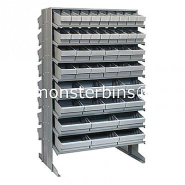 Double Sided Sloped Pick Rack - 16 Shelves - 36 MED501, 24 MED601, 16 MED701, 12 MED801