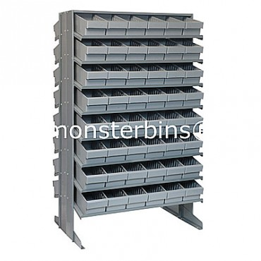 Double Sided Sloped Pick Rack - 16 Shelves - 96 MED601