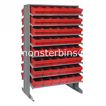 Double Sided Sloped Pick Rack - 16 Shelves - 96 QED601