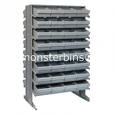 Double Sided Sloped Pick Rack - 16 Shelves - 64 QED701