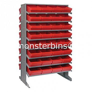 Double Sided Sloped Pick Rack - 16 Shelves - 64 MED701