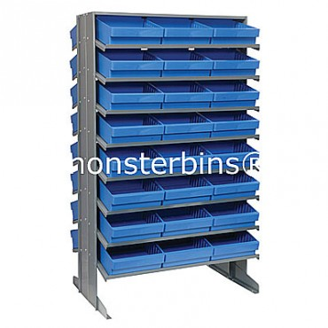 Double Sided Sloped Pick Rack - 16 Shelves - 48 MED801