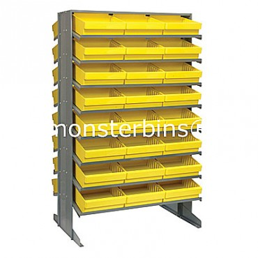 Double Sided Sloped Pick Rack - 16 Shelves - 48 QED801