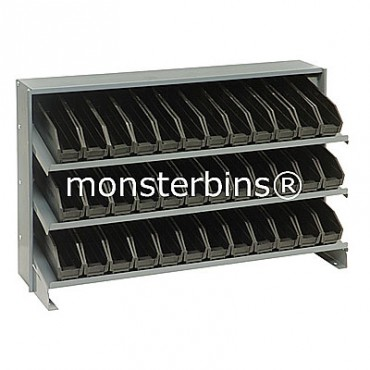 Bench Rack - 3 Shelves - 36 Shelf Bins (12x3x4)