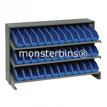 Bench Rack - 3 Shelves - 36 Shelf Bins (12x3x4)