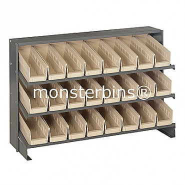 Bench Rack - 3 Shelves - 24 Shelf Bins (12x4x4)