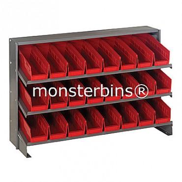 Bench Rack - 3 Shelves - 24 Shelf Bins (12x4x4)