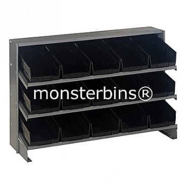 Bench Rack - 3 Shelves - 15 Shelf Bins (12x6x4)