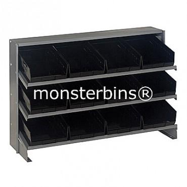Bench Rack - 3 Shelves - 12 Shelf Bins (12x8x4)