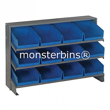 Bench Rack - 3 Shelves - 12 Shelf Bins (12x8x4)