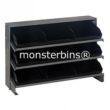 Bench Rack - 3 Shelves - 9 Shelf Bins (12x11x4)