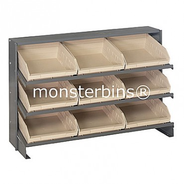 Bench Rack - 3 Shelves - 9 Shelf Bins (12x11x4)