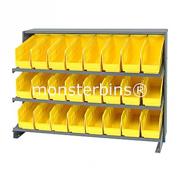 Bench Rack - 3 Shelves - 24 Shelf Bins (12x4x6)