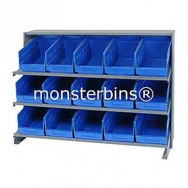Bench Rack - 3 Shelves - 15 Shelf Bins (12x6x6)