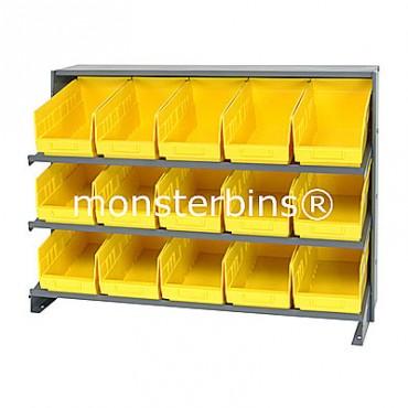 Bench Rack - 3 Shelves - 15 Shelf Bins (12x6x6)