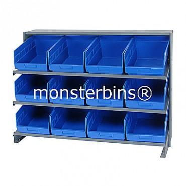 Bench Rack - 3 Shelves - 12 Shelf Bins (12x8x6)