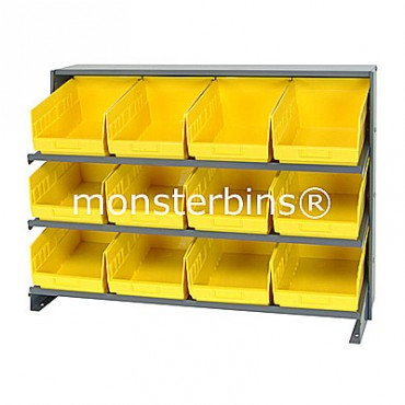 Bench Rack - 3 Shelves - 12 Shelf Bins (12x8x6)