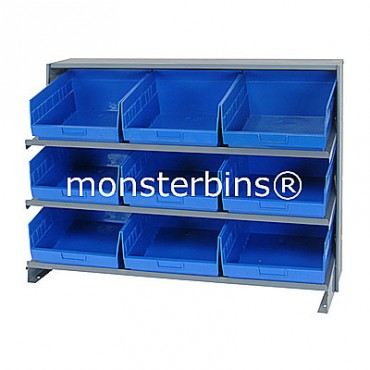 Bench Rack - 3 Shelves - 9 Shelf Bins (12x11x6)