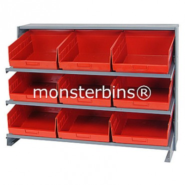 Bench Rack - 3 Shelves - 9 Shelf Bins (12x11x6)