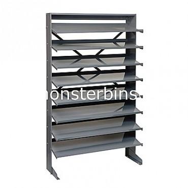 Single Sided Sloped Pick Rack - 8 Shelves - No Bins