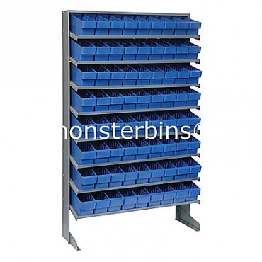 Single Sided Sloped Pick Rack - 8 Shelves - 72 MED501