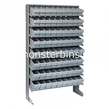 Single Sided Sloped Pick Rack - 8 Shelves - 72 QED501