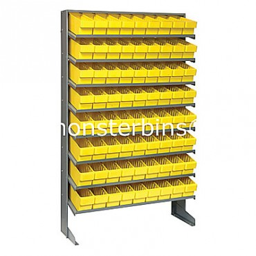 Single Sided Sloped Pick Rack - 8 Shelves - 72 QED501
