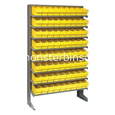 Single Sided Sloped Pick Rack - 8 Shelves - 72 MED501