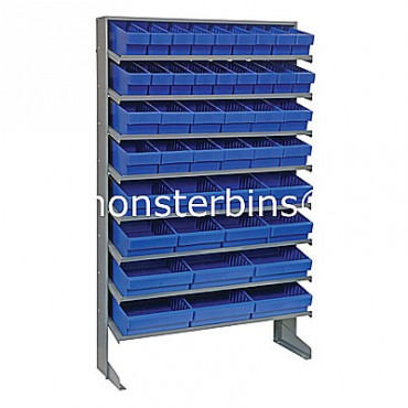 Single Sided Sloped Pick Rack - 8 Shelves - 18 QED501, 12 QED601, 8 QED701, 6 QED801