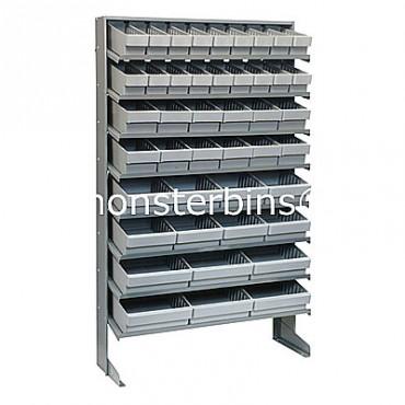 Single Sided Sloped Pick Rack - 8 Shelves - 18 MED501, 12 MED601, 8 MED701, 6 MED801