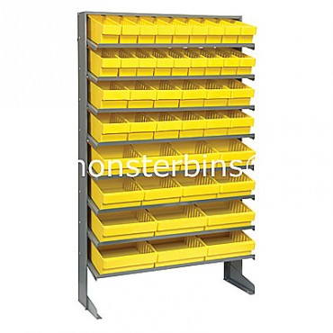 Single Sided Sloped Pick Rack - 8 Shelves - 18 MED501, 12 MED601, 8 MED701, 6 MED801
