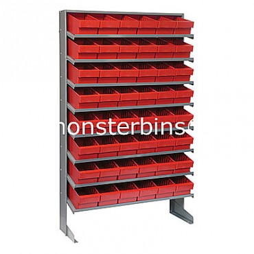 Single Sided Sloped Pick Rack - 8 Shelves - 48 MED601
