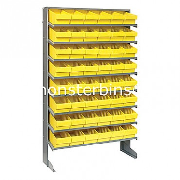 Single Sided Sloped Pick Rack - 8 Shelves - 48 QED601