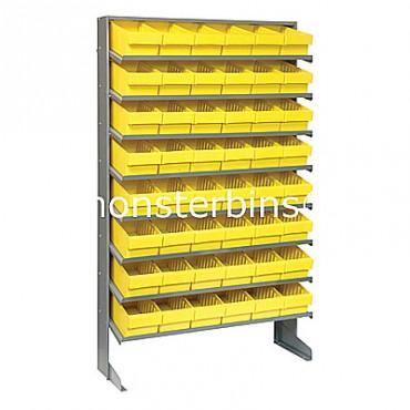Single Sided Sloped Pick Rack - 8 Shelves - 48 MED601